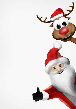 free download: santa 3d render christmas reindeer santa claus