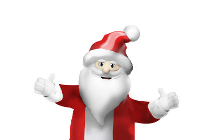 free download: santa claus happy thumbs up festive