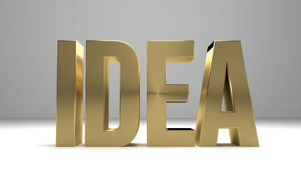 Idee Idea 3D Render golden