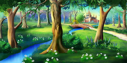 Magic Forest Around the Fairytale Castle
