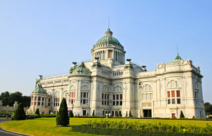 Marble building of The Throne Hall in Bangkok, where the nationa