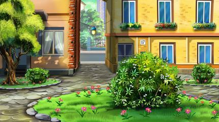 Small urban courtyard.