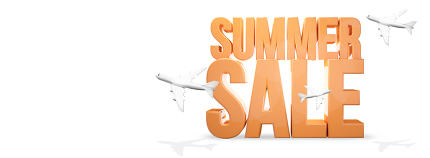 summer sale travel 3d render