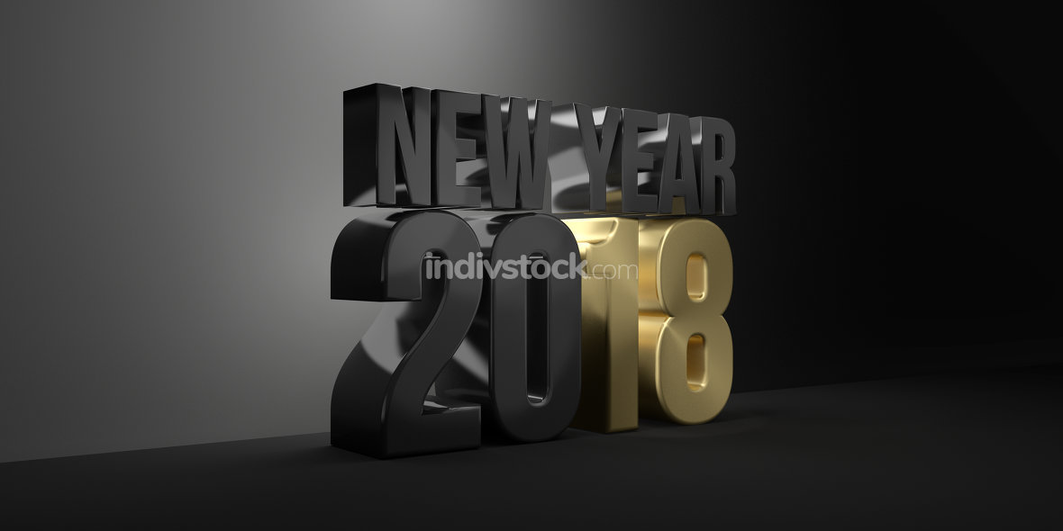 2018. new year 2018 3d render