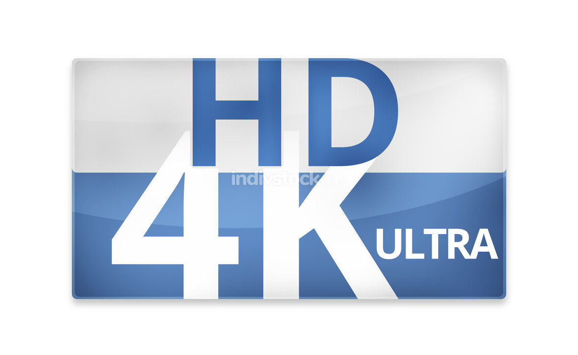 4K Ultra HD modern badge icon symbol 3D render