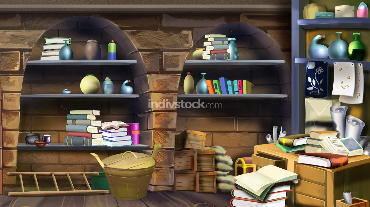 Basement shelves. Image 1