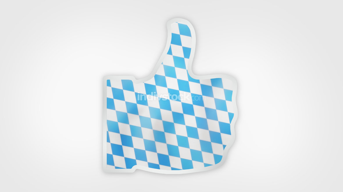 bavaria munich oktoberfest flag thumbs up icon 3d render