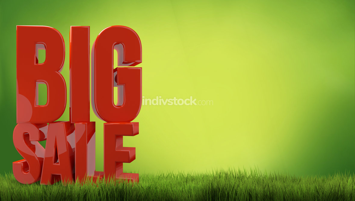 big sale. nature big sale red 3d render