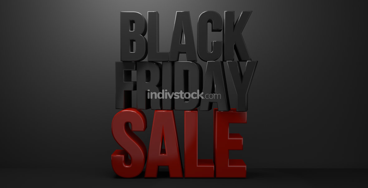 black friday 3d render black friday sale