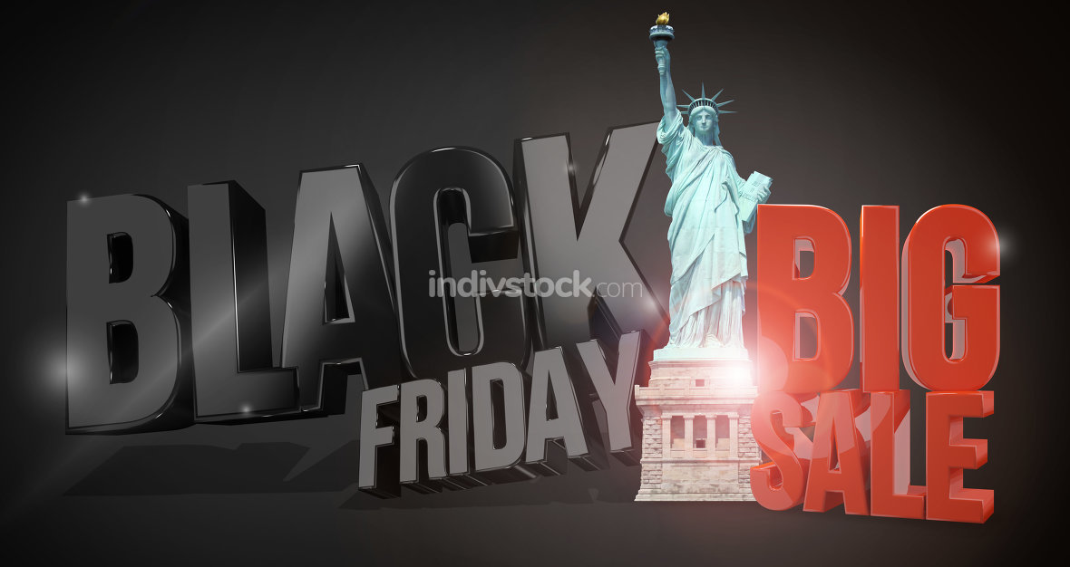 black friday 3d render for black friday sale