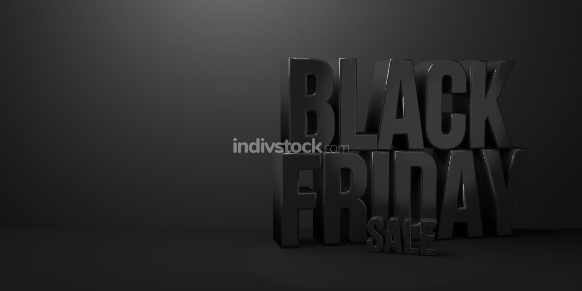 black friday sale 3d render