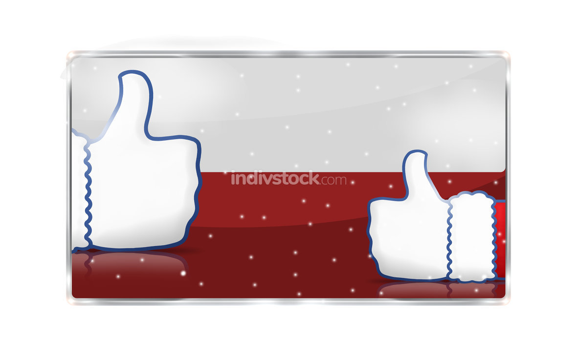 blank red snowflakes icon button isolated
