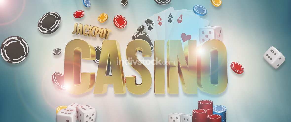 Casino. Poker Casino cards 3d render