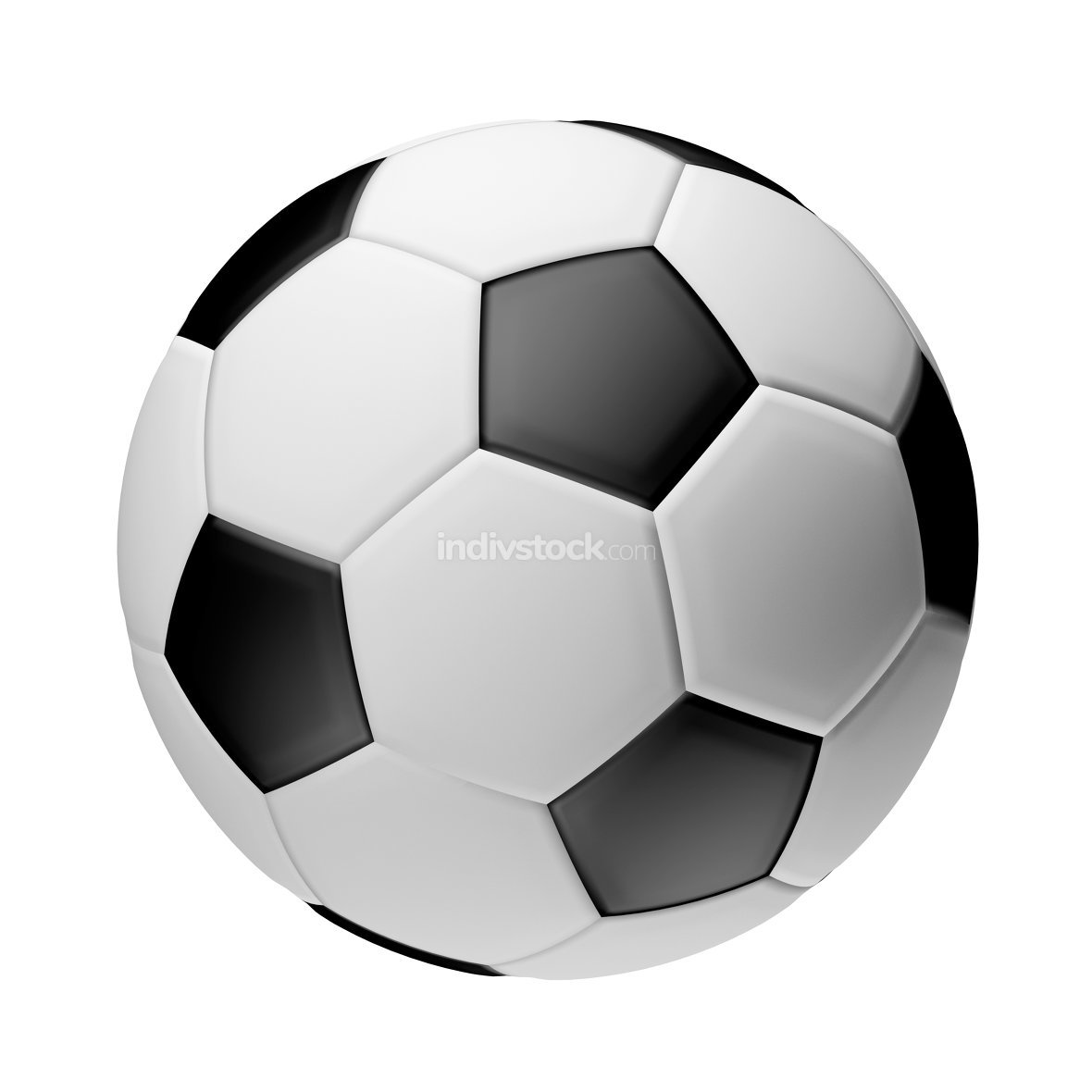 football ball 3d render isolated ball