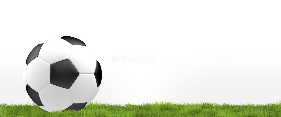 Football ball. Soccer football 3d render ball design