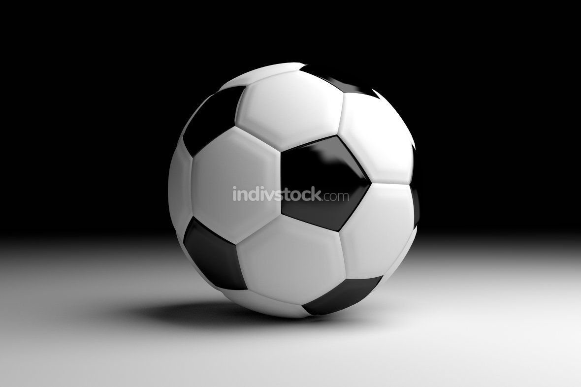 football soccer ball 3d render background