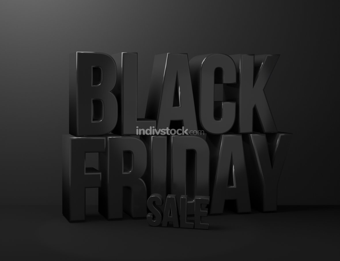 free download: black friday sale 3d render