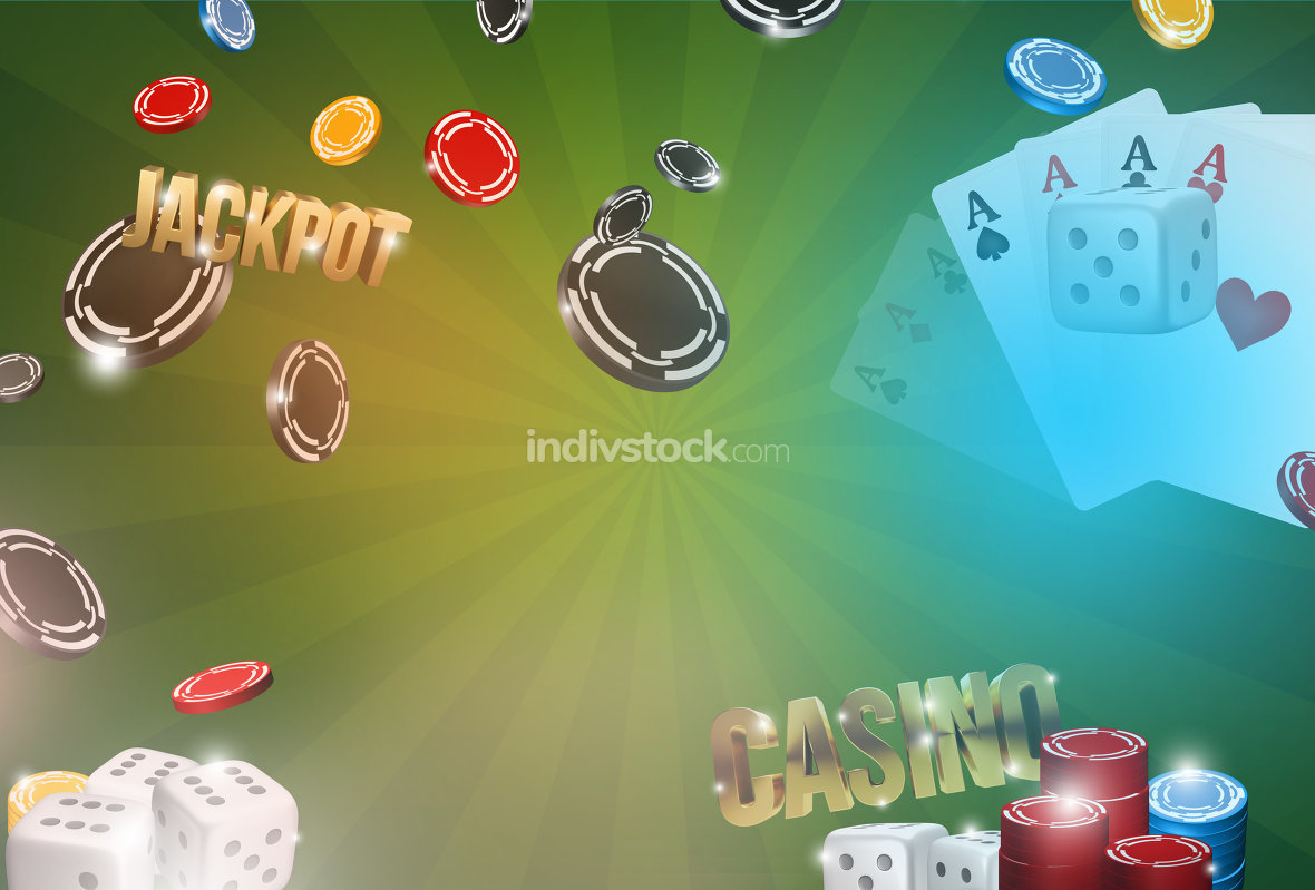 free download: Casino background. 3d render poker jackpot casino