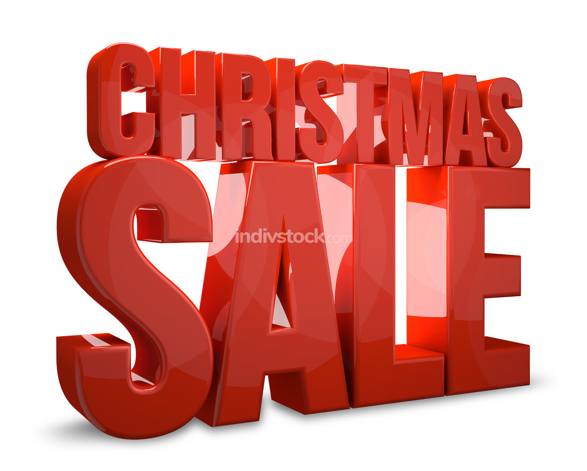free download: christmas sale 3d render christmas shopping