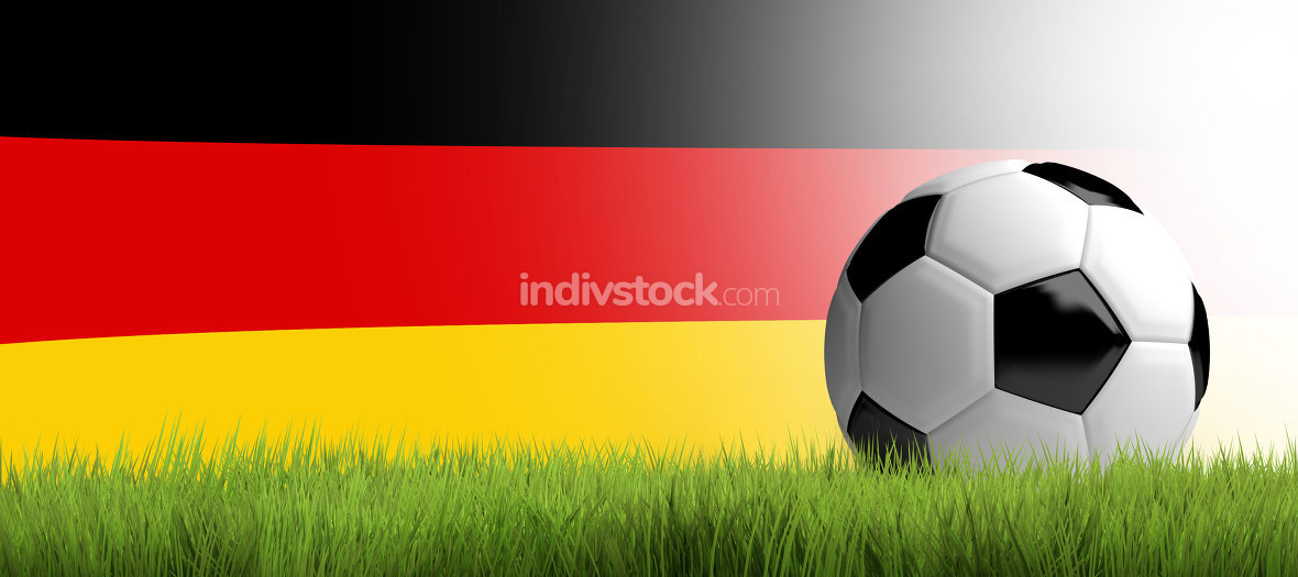 free download: germany soccer football german football ball 3d render