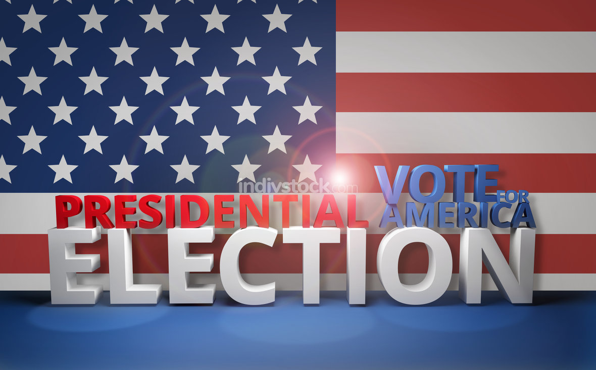 free download: presidential election vote for america 3D render