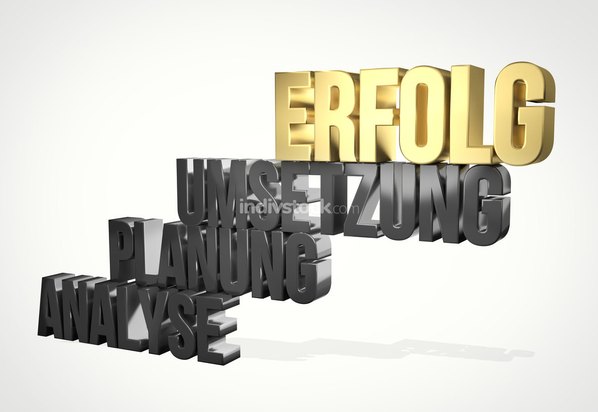 german language for success 3d render