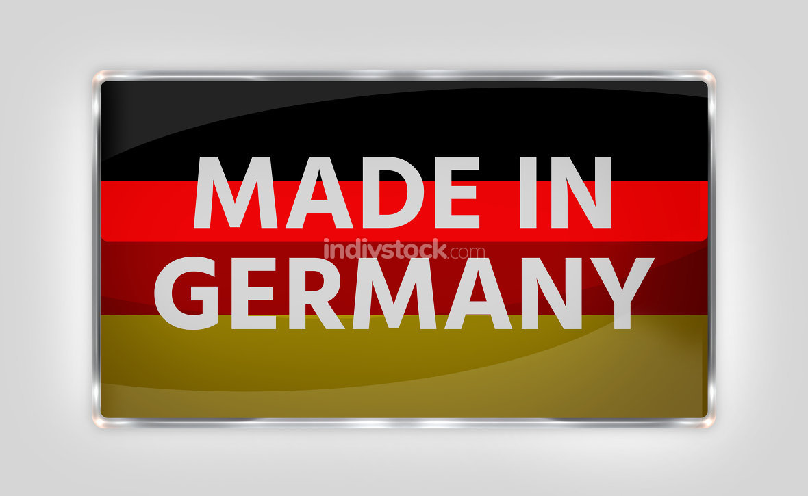Germany german button icon 3d render