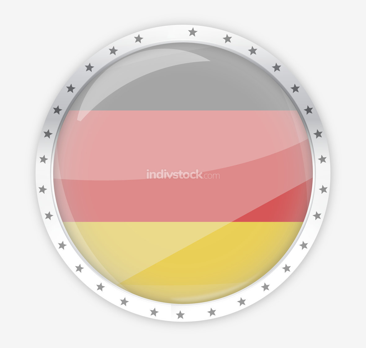 germany round opacity button icon 3d render graphic isolated
