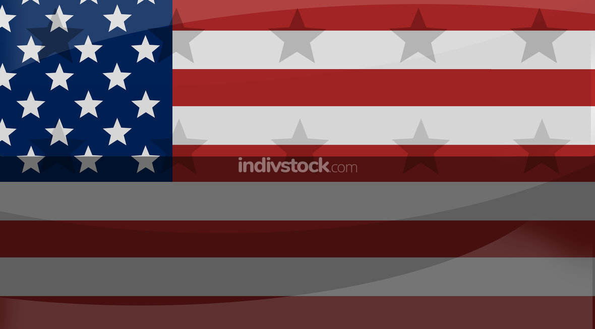 great america creative flag background with stars