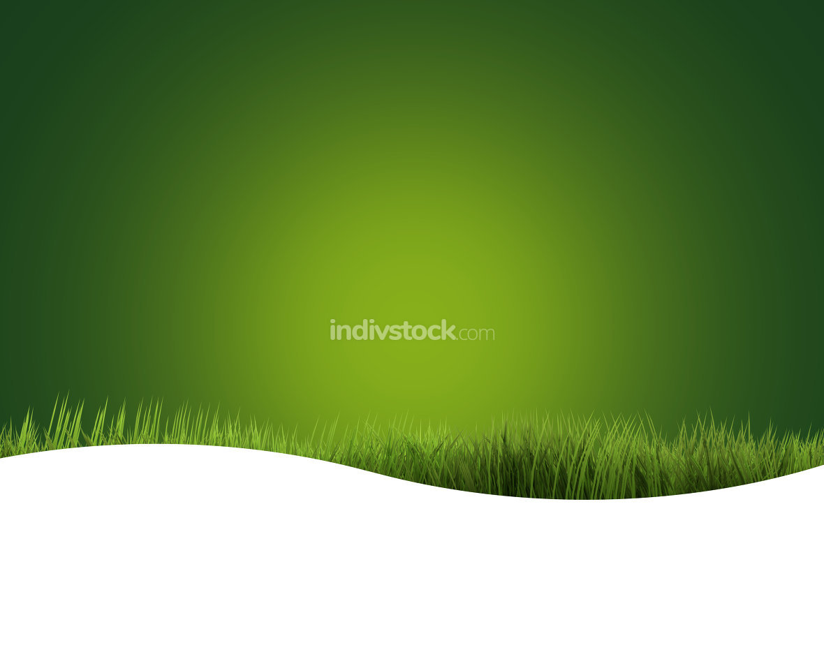 green grass intensive green 3D render nature background