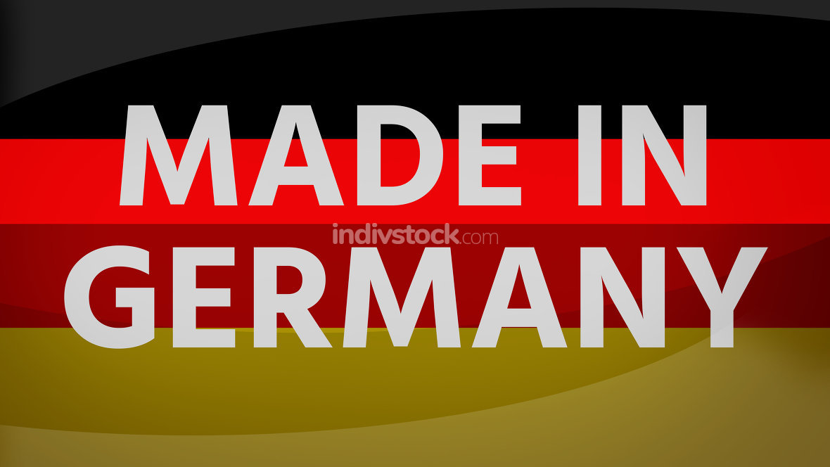 Made in germany background german creative flag colors