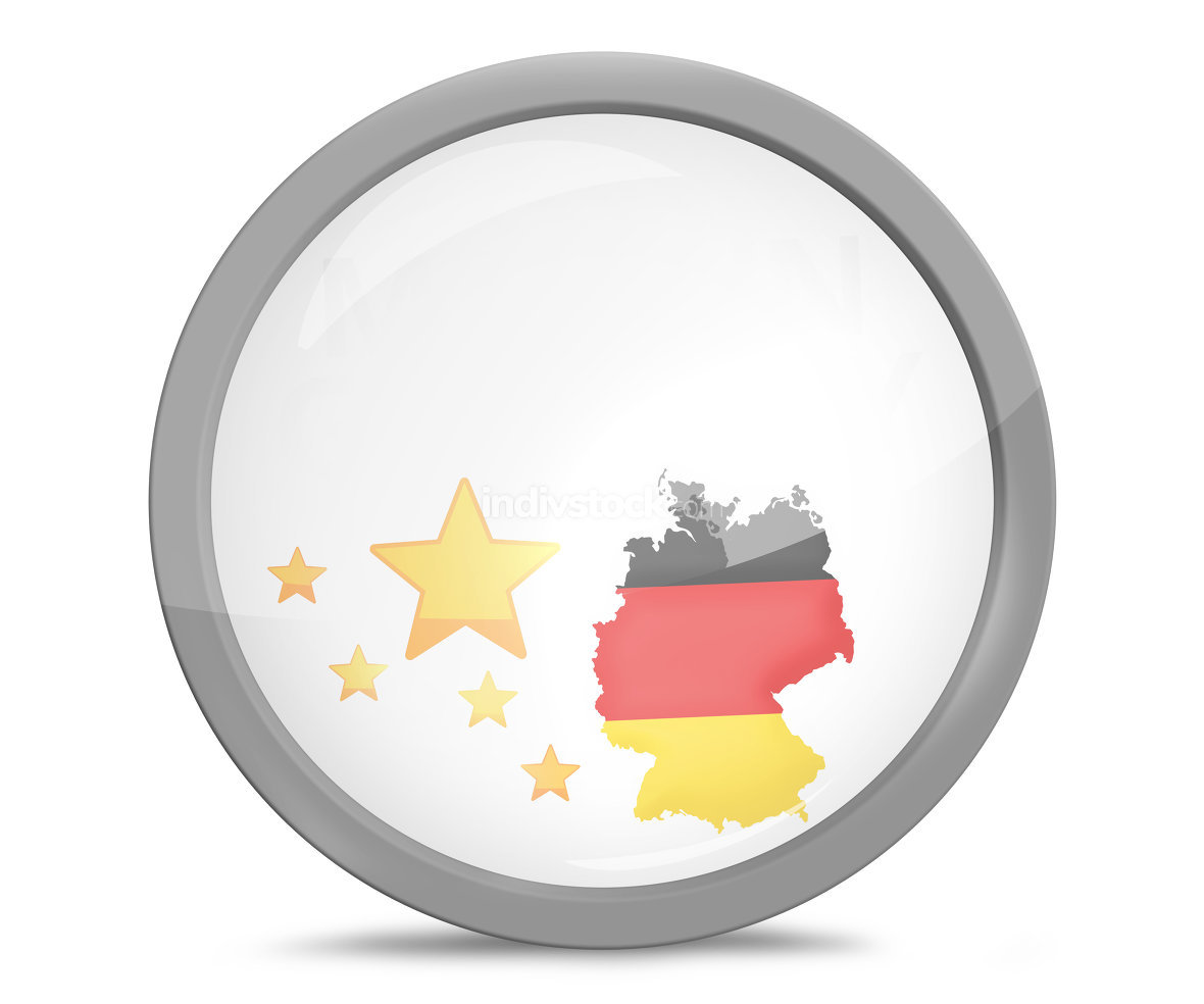 Made in Germany button icon rounded 3d render