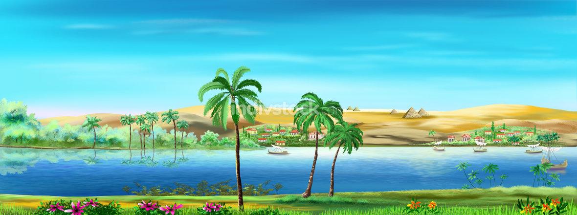 Nile River landscape