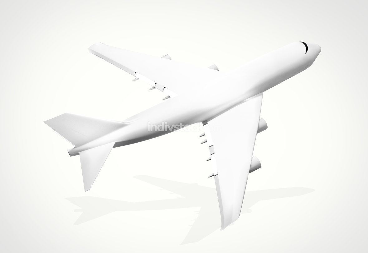 plane background. 3d render airplane aircraft