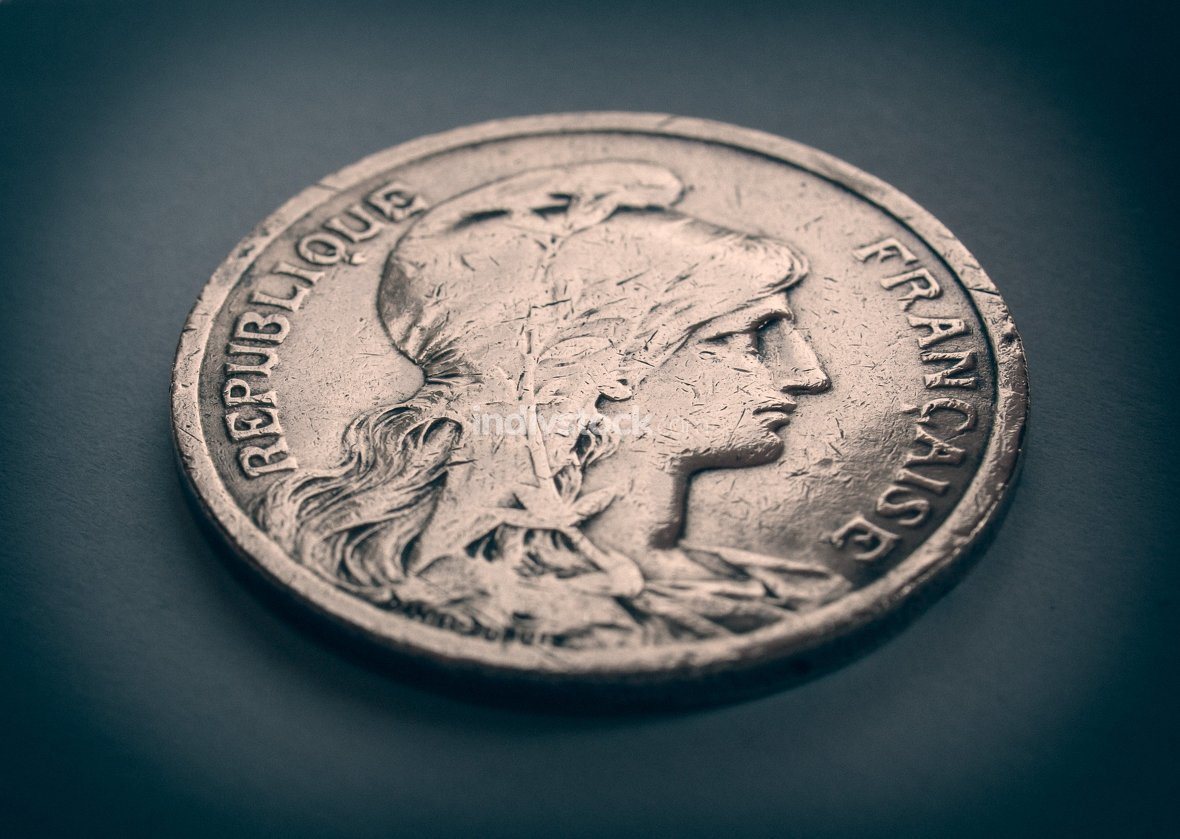 Retro look France coin