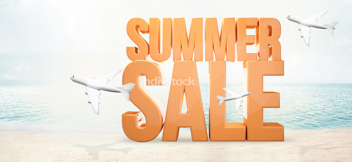 summer sale. bold summer 3d render