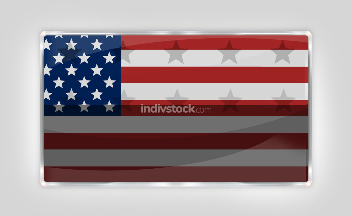 United States of America Button Icon 3D render