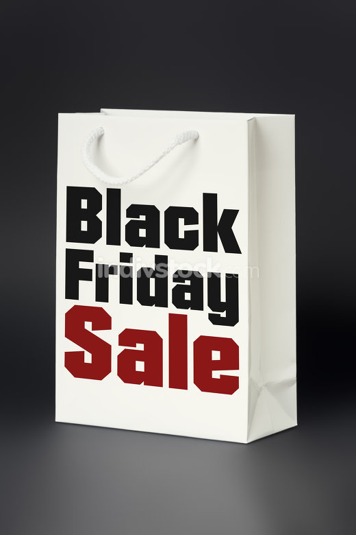 white shopping bag black friday sale
