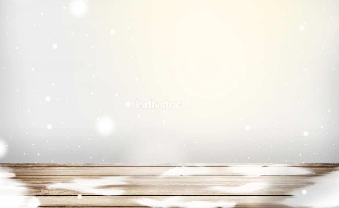 winter landscape snow background 3d render