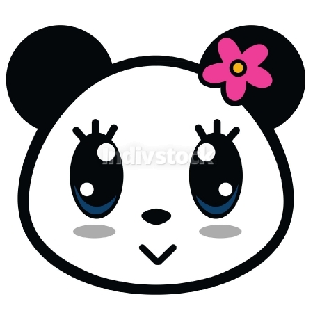 Cute Panda Girl Cartoon