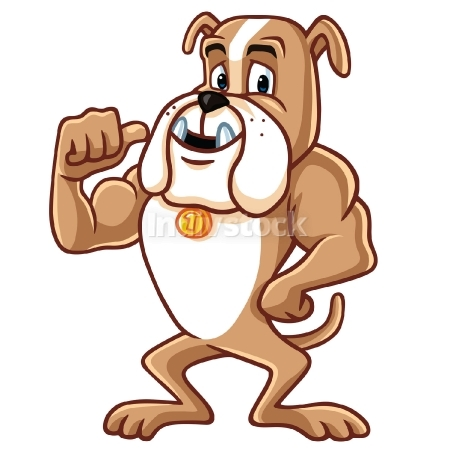 Bulldog Cartoon Mascot Character Vector