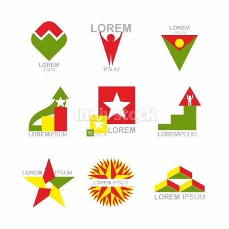 Business Icons Set. Design elements for business templates. Coll