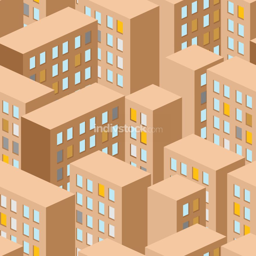 City seamless pattern. Vector city panorama. background building