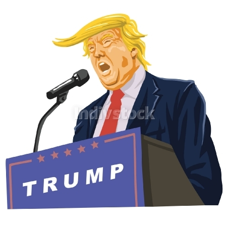 EDITORIAL USE ONLY: Donald Trump Giving A Speech