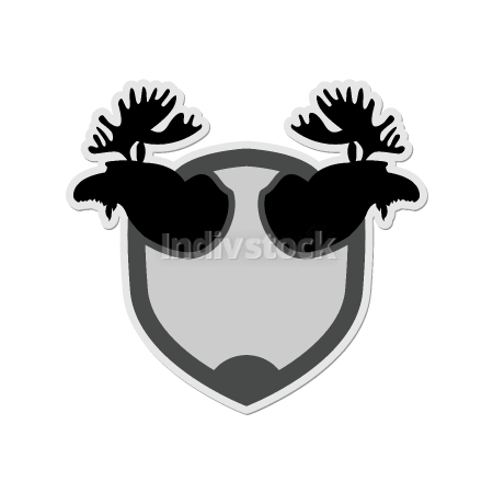 free download: Logo Moose head on a shield. Emblem for  hunting Club. Vector il