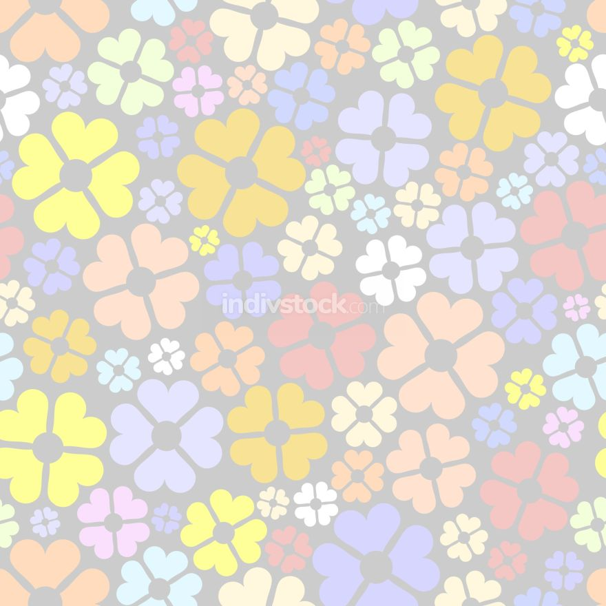 free download: Seamless floral pattern. Flowers vector background