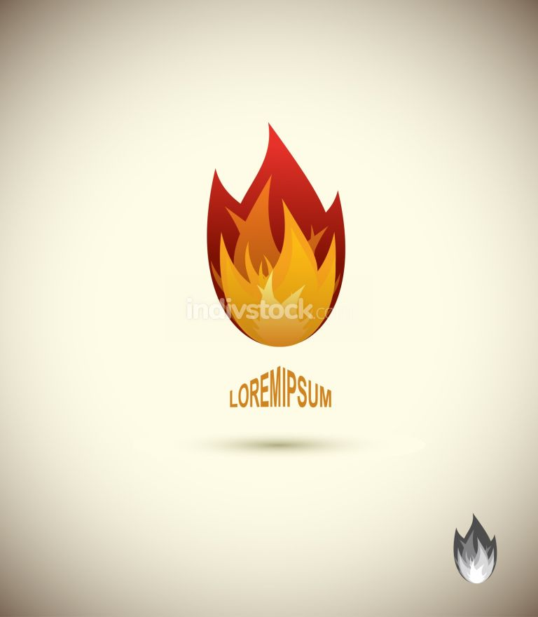 free download: Tongues of flame icon. logo of flame. fire icon