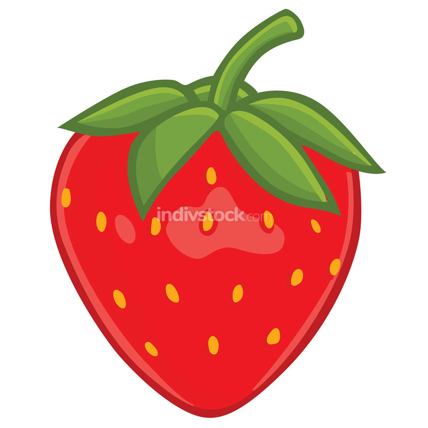 Fresh Strawberry Clipart Vector