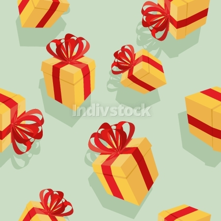Gift boxes Seamless pattern. background for  holidays: birthdays