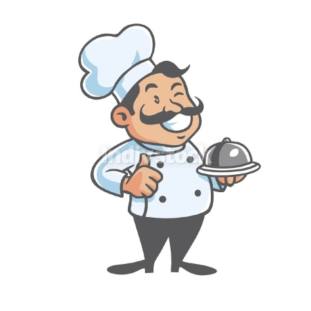 Happy Chef Mascot Vector
